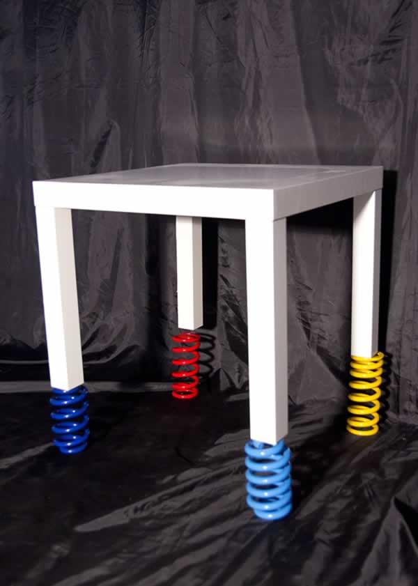 Studio (di) molle: tavolo (su) molle