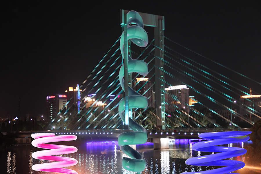Studio (di) molle: Molle su Ponte Waitan 1, Cina