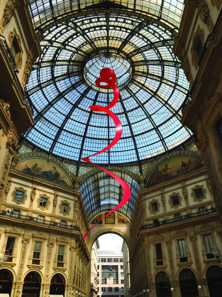 Studio (di) molle: Studio per Galleria Vittorio Emanule II, Milano, 2016