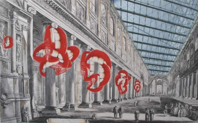 omaggio a Piranesi: Veduta interna della Basilica di Santa Maria Maggiore
