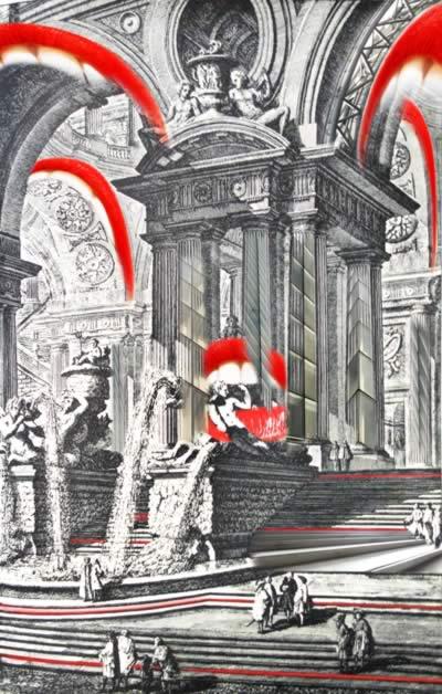 omaggio a Piranesi: Gruppo di colonne