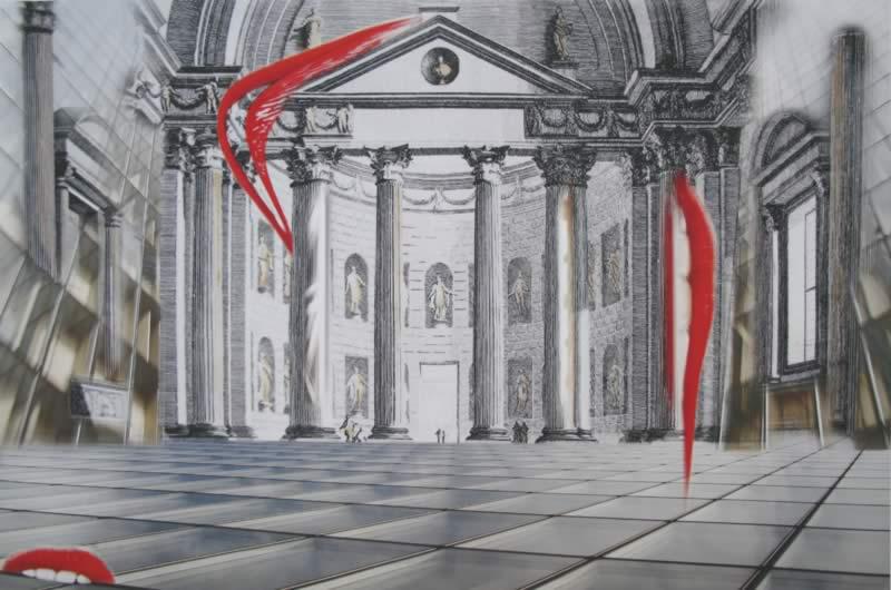 omaggio a Piranesi: Iscrizioni sala all'uso degli antichi romani
