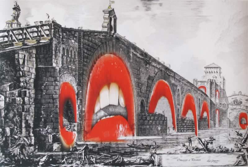 omaggio a Piranesi: Veduta del Ponte Molle sul Tevere